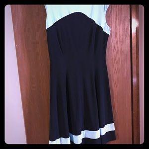 Light and dark blue dress